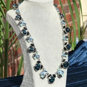 VERA WANG MIDNIGHT BLUE Statement Necklace